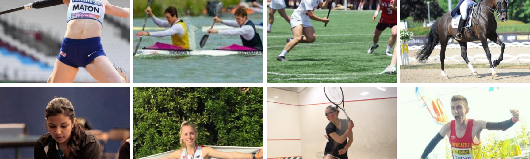 Eight images of performance athletes from Oxford University