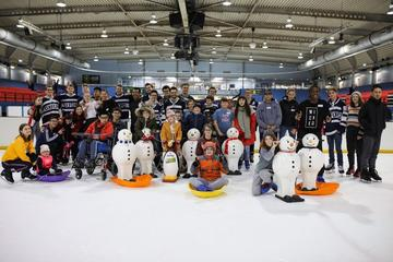 visually impaired ice hockey session attendees